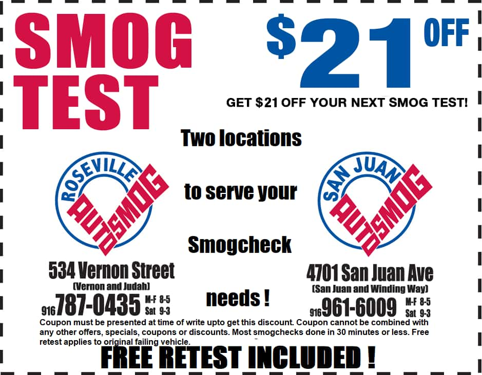 Roseville Auto Smog-coupon